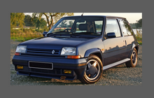 Renault 5 GT Turbo (Gen. 2) 1984-1996. Fog Lights CLEAR Stone Protection CLASSIC