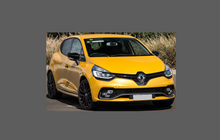 Renault Clio 2012-2019, Rear Bumper Upper CLEAR Scratch Protection