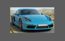 Porsche Boxster / Cayman S 718 (2016-), Side Sill Skirts CLEAR Paint Protection