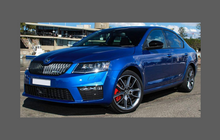 Skoda Octavia (Type 5E) 2013- , OE Style Rear QTR Lower Arch CLEAR Paint Protection