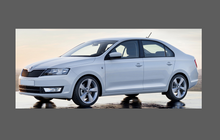 Skoda Rapid (Type NH3) 2012- , OE Style Rear QTR Lower Arch CLEAR Paint Protection
