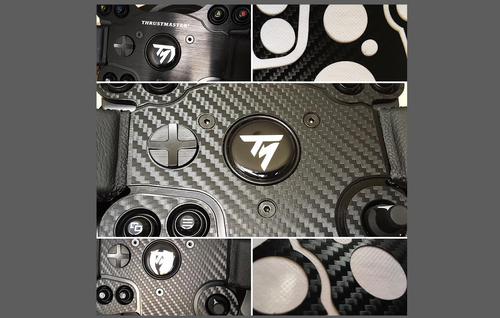Thrustmaster TX Steering Wheel, CARBON FIBRE EFFECT Styling & Scratch Protection Kit