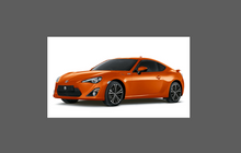 Subaru BRZ 2012-Present, Rear Bumper Upper BLACK TEXTURED Scratch Protection