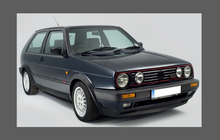 Volkswagen Golf (MK2) 1983-1992, Twin Headlights CLEAR Stone Protection. CLASSIC