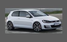 Volkswagen Golf (MK7) 2013-2017, Bonnet & Wings Front Sections CLEAR Paint Protection