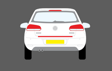 Volkswagen Golf MK6 (Type 5K) 2008-2013, Rear Bumper Upper CLEAR Paint Protection