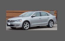 Volkswagen Passat (Type B7) 2010-2015, Rear Bumper CLEAR Scratch Protection