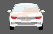 Volkswagen Passat (Type B8) 2015-2020, Headlights CLEAR Stone Protection