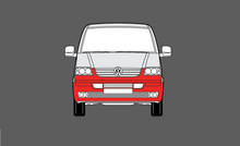 Volkswagen Transporter / Caravelle (Type T5) 2002-2009, Front Bumper CLEAR Paint Protection