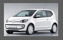 Volkswagen Up 2011- , Headlights CLEAR Stone Protection