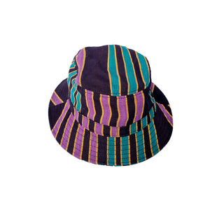 """Dogon"" Black/Purple Bucket Hat"