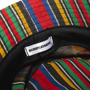 """Baule"" Multi-Color Stripes + Embroidery Bucket Hat"