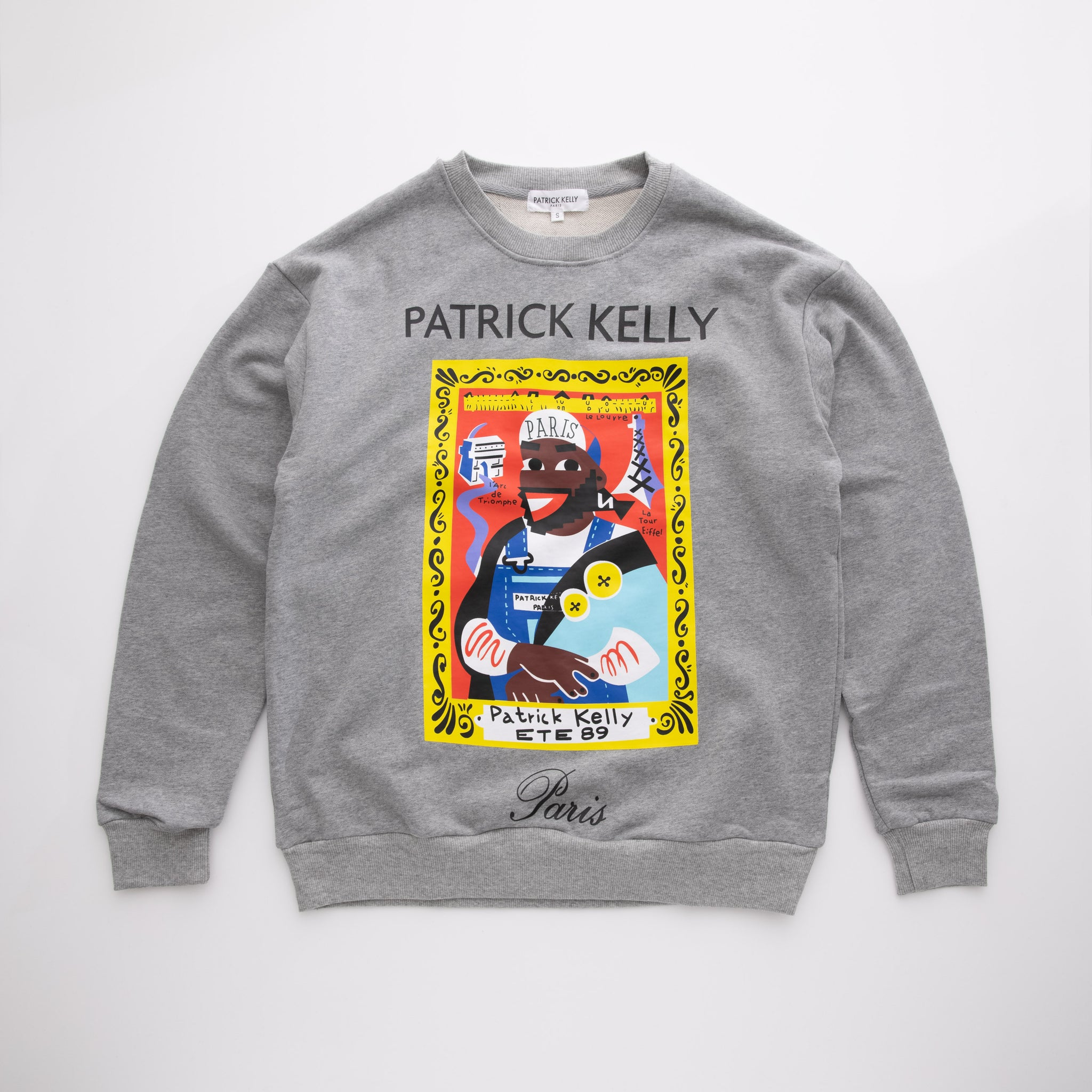"Patrick Kelly ""Self-Portrait"" Crewneck Sweatshirt"