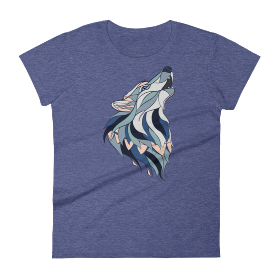Howling Wolf Women's Tee - Rave Threads USA - EDM, Rave, and Festival Clothing Store