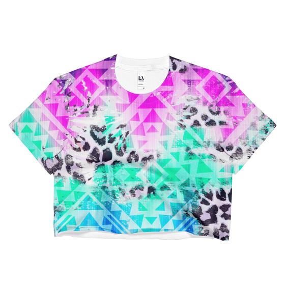 Prism Beast Loose Crop Top - Rave Threads USA - EDM, Rave, and Festival Clothing Store
