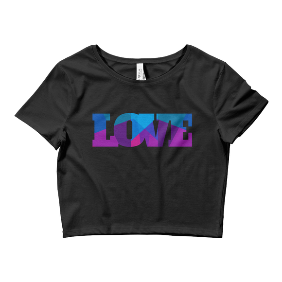 Colored Love Crop Top - Rave Threads USA - EDM, Rave, and Festival Clothing Store