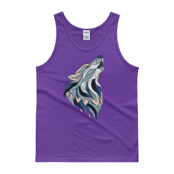 Howling Wolf Men's Tank - Rave Threads USA - EDM, Rave, and Festival Clothing Store