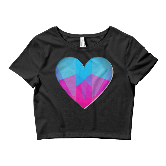 Colored Heart Crop Top - Rave Threads USA - EDM, Rave, and Festival Clothing Store