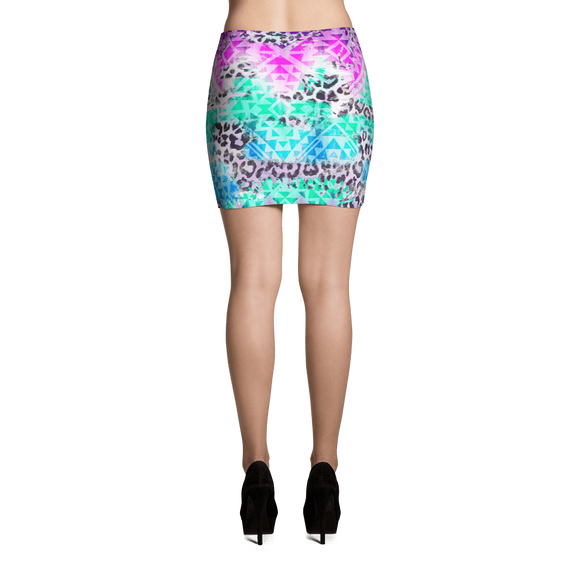 Prism Beast Mini Skirt - Rave Threads USA - EDM, Rave, and Festival Clothing Store