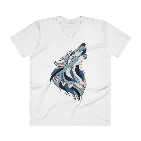 Howling Wolf Men's V-Neck Tee - Rave Threads USA - EDM, Rave, and Festival Clothing Store