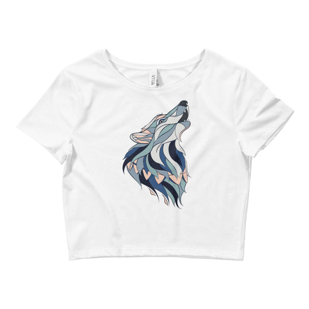 Howling Wolf Crop Top - Rave Threads USA - EDM, Rave, and Festival Clothing Store