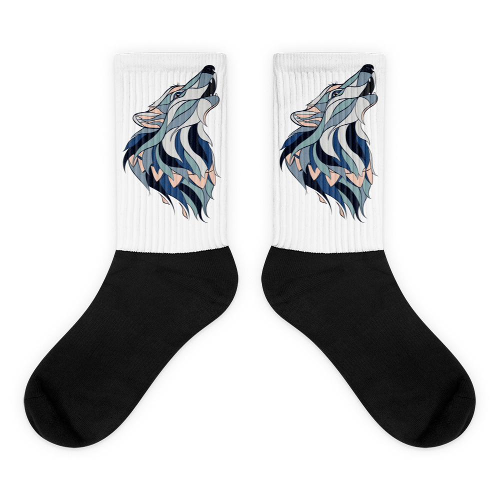 Howling Wolf Socks - Rave Threads USA - EDM, Rave, and Festival Clothing Store