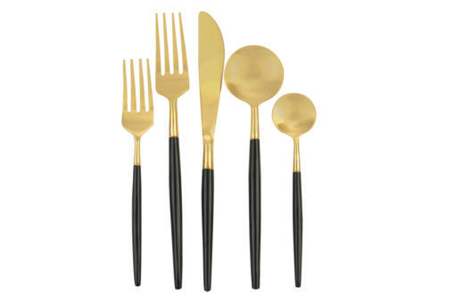Modern Black and Gold Flatware