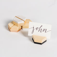 Hexagon Place Card Holder