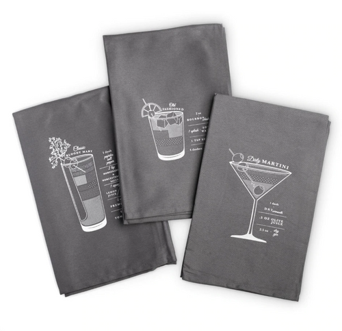 Bar Cart Cocktail Towels | Set of 3