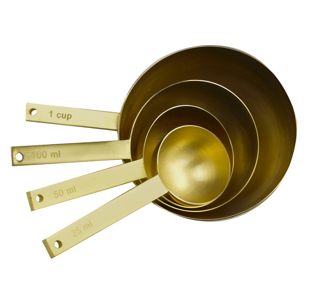 Brass Measuring Cup Set