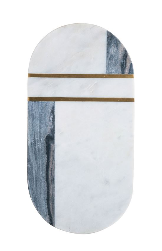 Marble and Brass Cheese Board