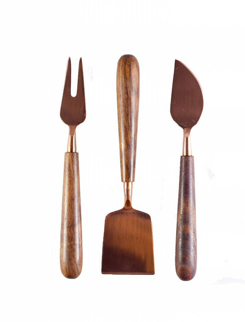 Cheese-Knives---Set-of-3---Copper