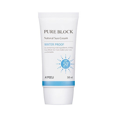 A'PIEU Pure Block Natural Water-Proof Sun Cream SPF50+/PA+++