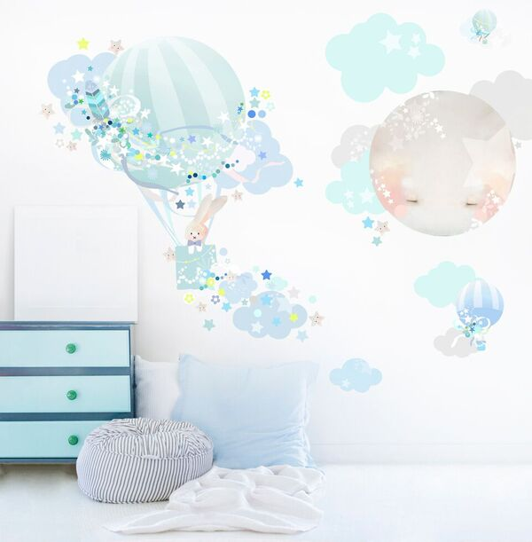 Hot Air Balloon Wall Sticker - The Wall Sticker Company - BOY - 3 weeks delivery
