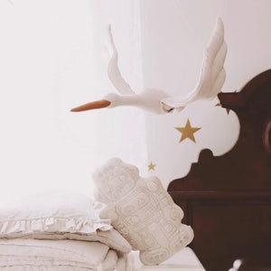 Bird Wall Decoration - Velvet White - end of September delivery
