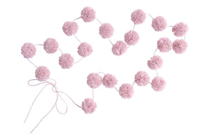 Mini Pom-Poms Garland in Blush - in stock