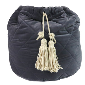 Velvet Storage Bag - Grey - In stock