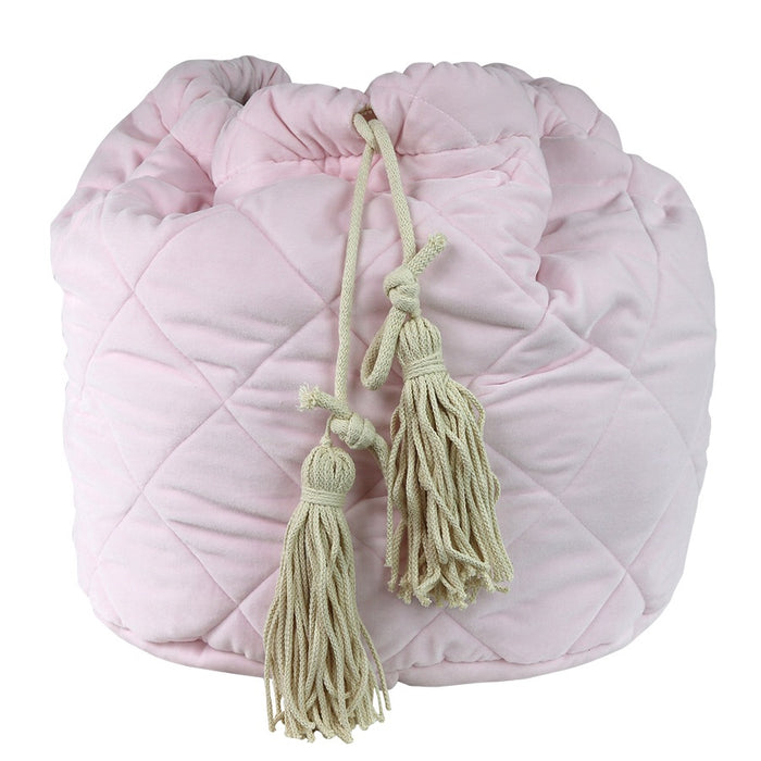 Velvet Storage Bag - Pink - 3 weeks delivery