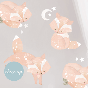 Friendly Fox Woodland Wall Sticker - in stock