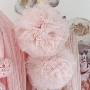 Large Sparkle Pom Garland in light pink - In stock