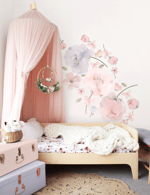 Small Bows & Roses Wall Sticker - Small Pack -  in stock
