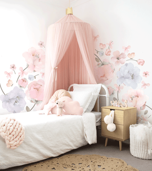 Large Bows & Roses Wall Sticker - Large Pack - in stock