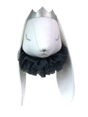 Rabbit Head with Grey Tulle - end of July delivery