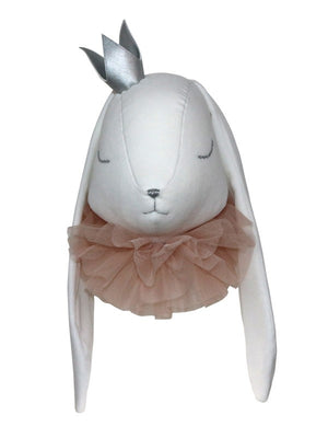 Rabbit Head with pink tulle - 3 weeks delivery