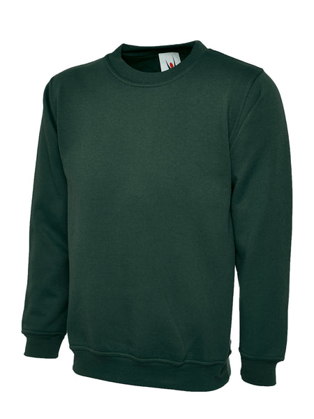 Workwear Uneek classic sweatshirt Bottle Green