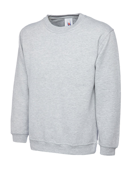 Workwear Uneek classic sweatshirt grey