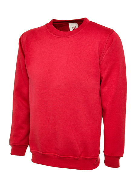 Workwear Uneek classic sweatshirt red