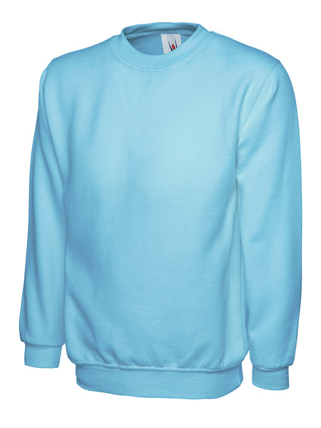 Workwear Uneek classic sweatshirt sky blue