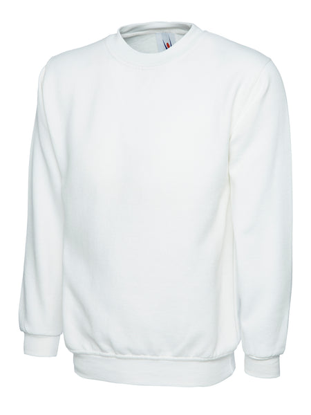 Workwear Uneek classic sweatshirt white