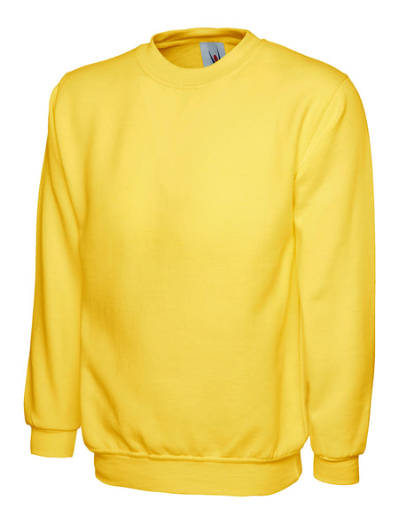 Workwear Uneek classic sweatshirt Yellow
